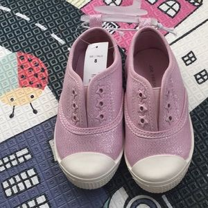 New Toddler Girl Canvas Sneakers - Size 8